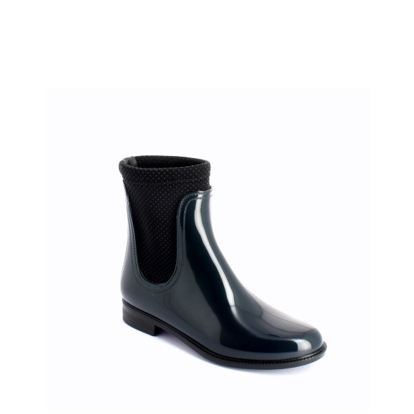 Chelsea boot with neoprene polka dot lining