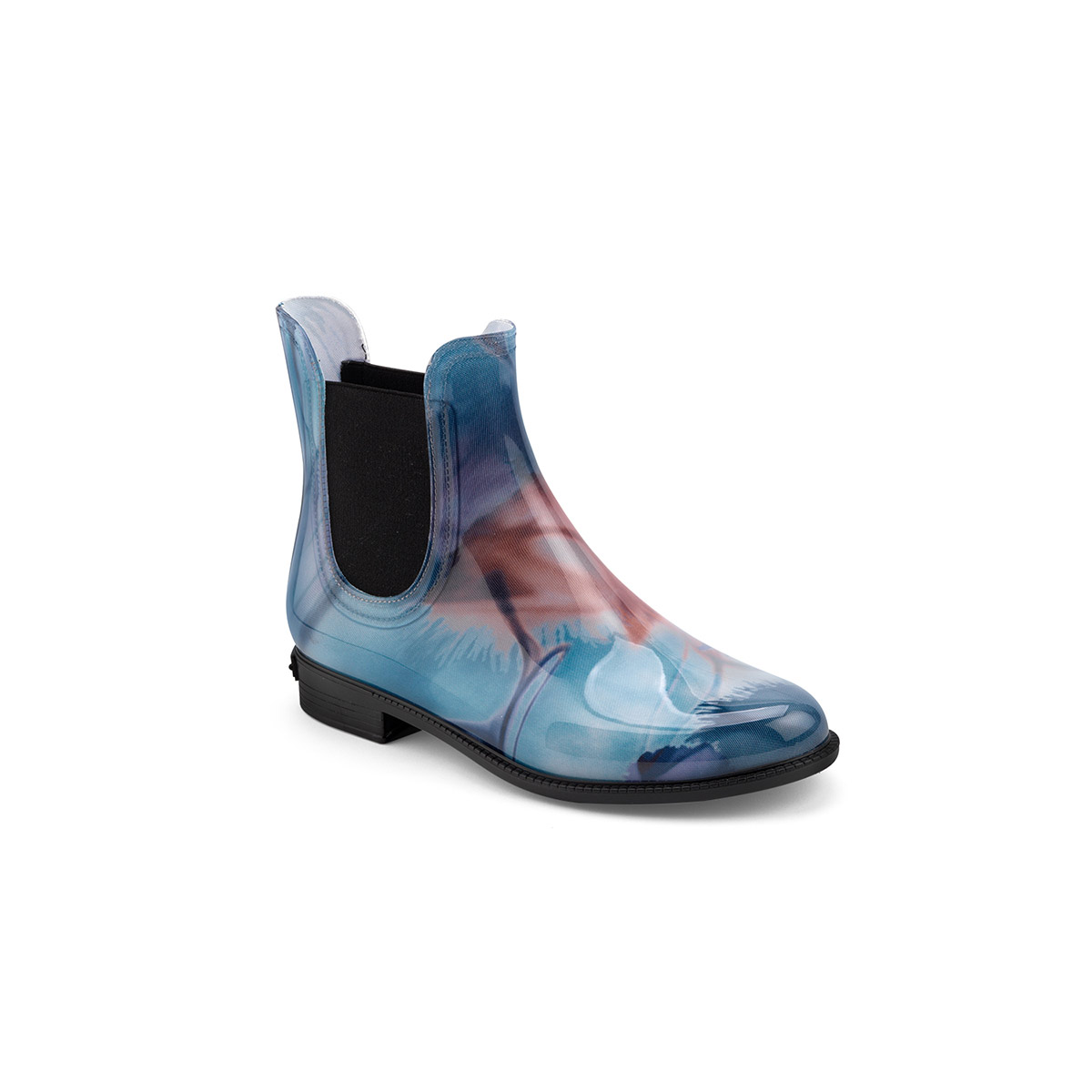 chelsea rain boot in pvc with pattern print