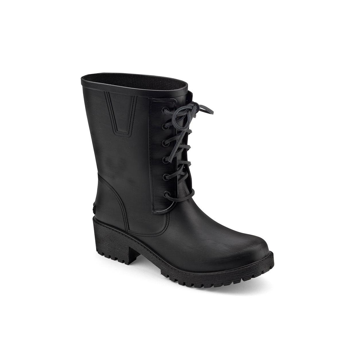 Pvc boot with laces