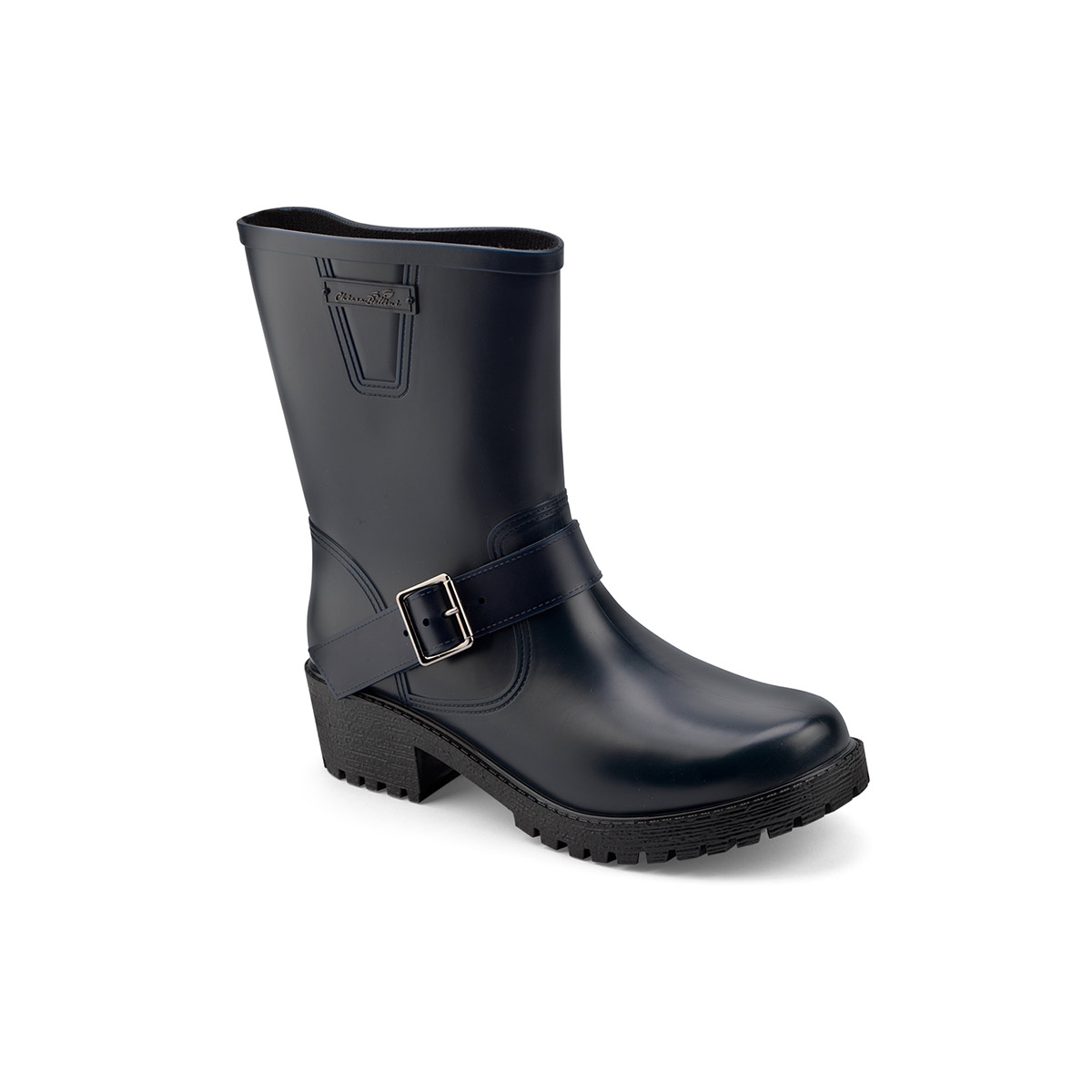 Pvc Biker boot for women with strap