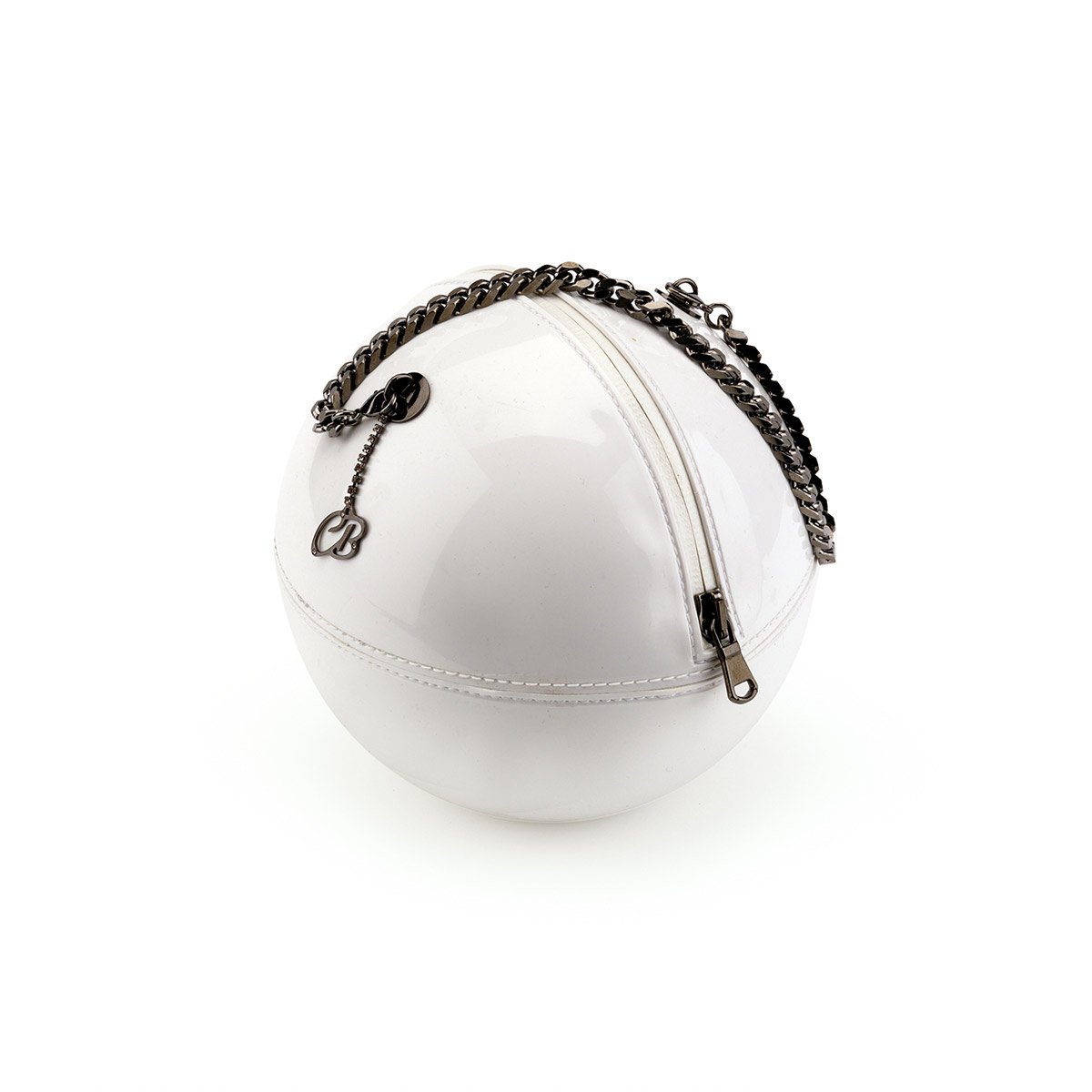 Pvc Sphere Bag with chain and pendant