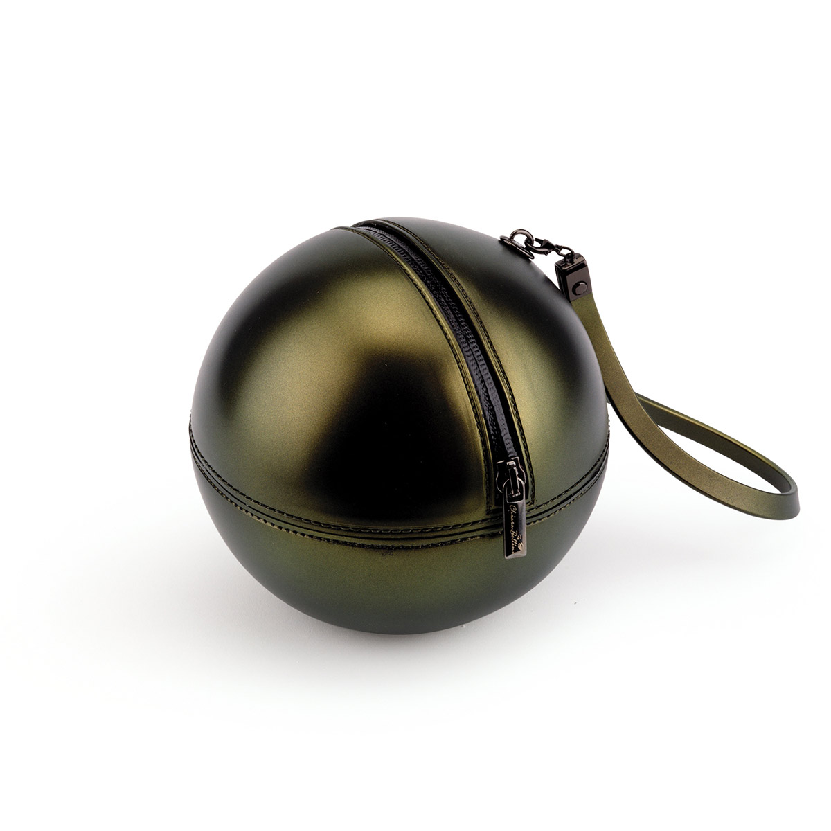 Sphere Bag in Pvc with iridescent effect