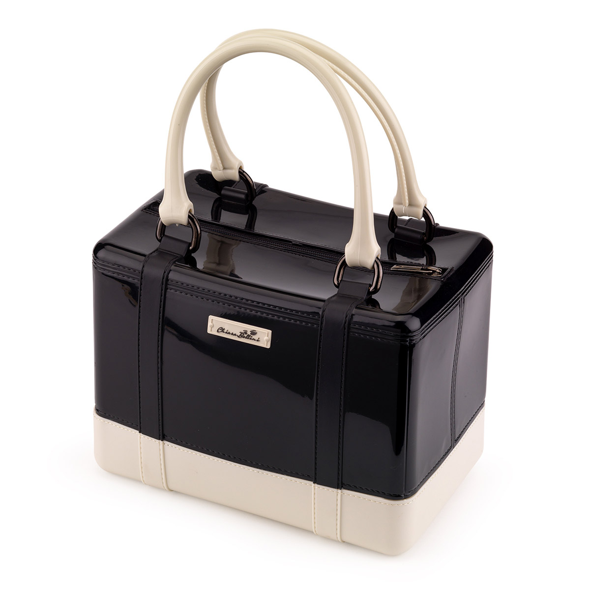 Double colour PVC Satchel handbag