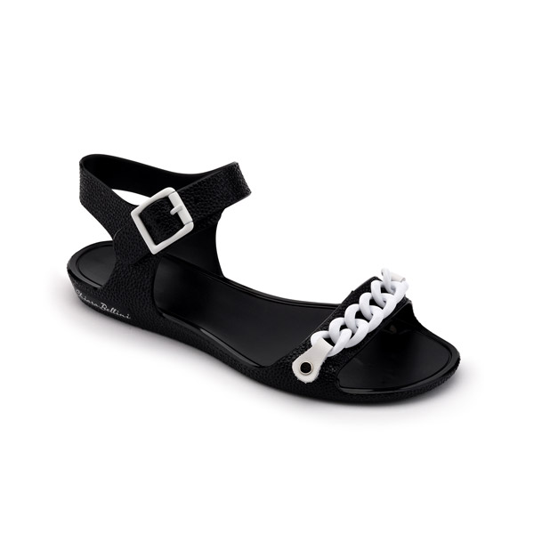 PVC SANDAL WITH TWO-COLOUR CHAIN