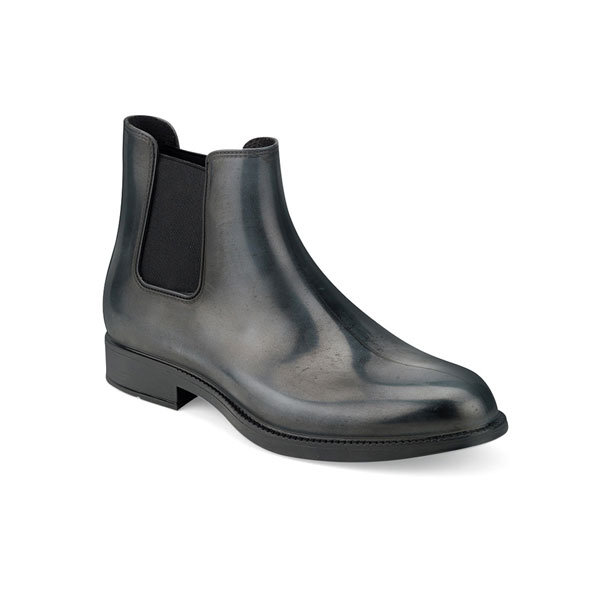 CHELSEA RAIN BOOT WITH BRUSHED MATT EFFECT. GREY