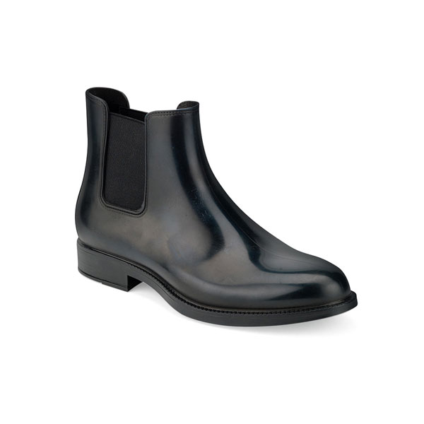 CHELSEA RAIN BOOT WITH BRUSHED MATT EFFECT. NAVY BLUE