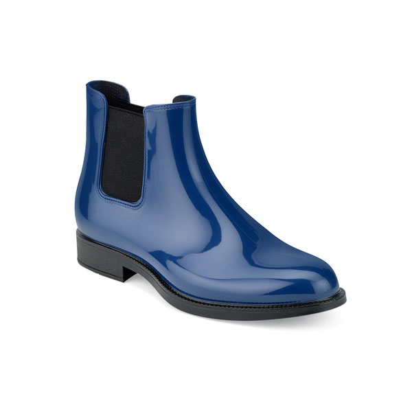 CHELSEA RAIN BOOT IN TWO-COLOUR PVC WITH BRIGHT FINISH