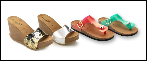 Sandals with cork sole today for sale in our on-line shop!