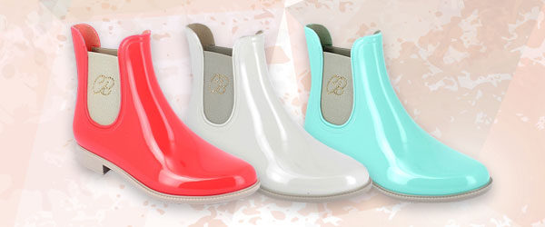 New Chelsea model boots in PVC with rhinestone application