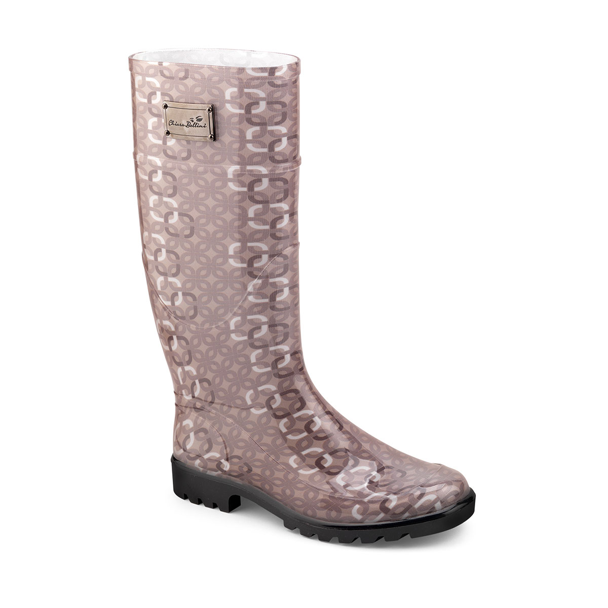 Bright pvc Rainboot with texture pattern