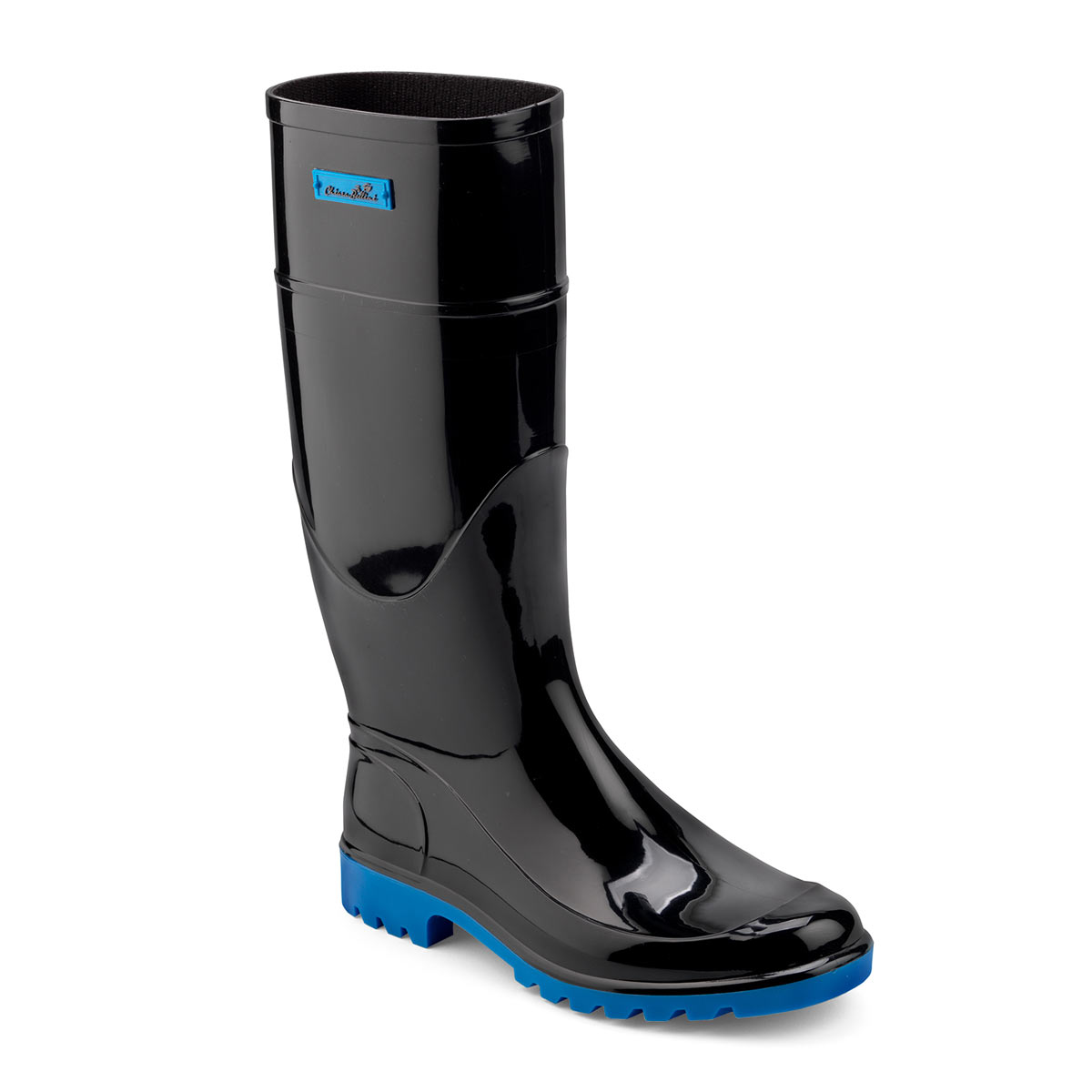 Bright pvc Rainboot with coloured label and sole