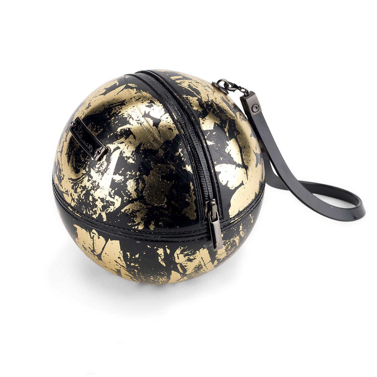 """Rock'n'Ball"" sphere handbag, gold plated"